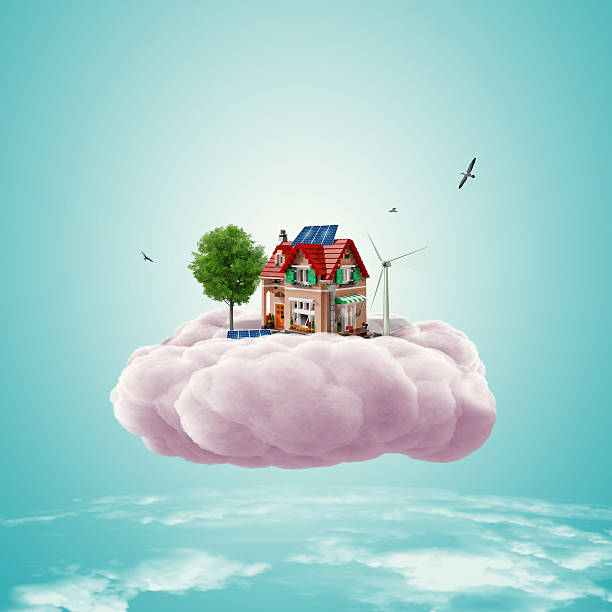 dreams' house - fantasy stock illustrations