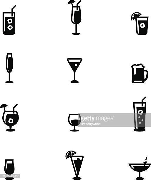drink icon set - soda stock illustrations, clip art, cartoons, & icons