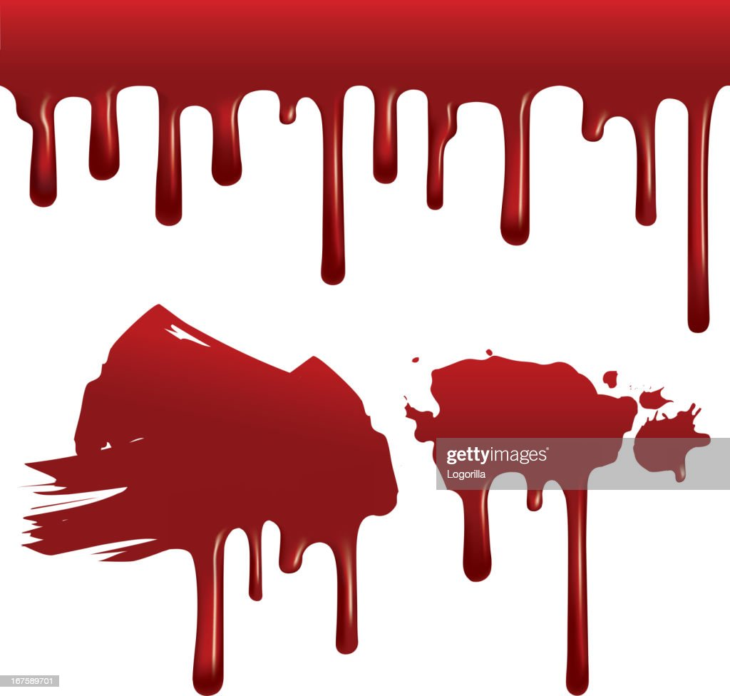 Dripping blood (seamless)