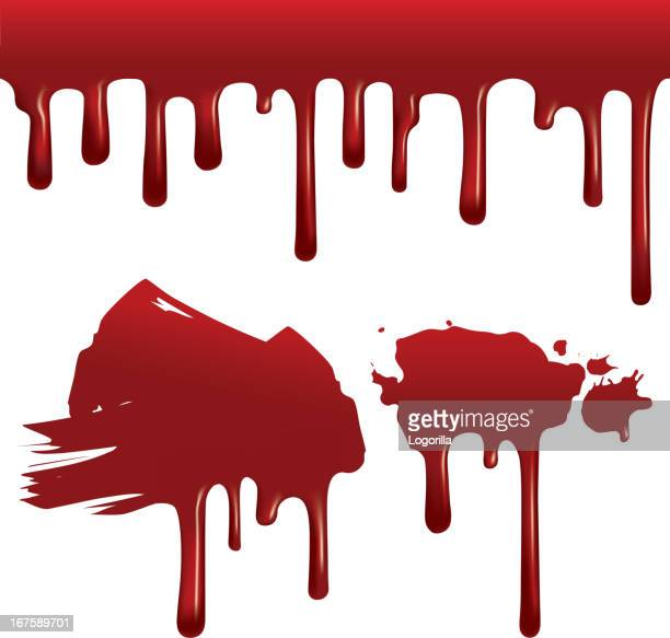 dripping blood (seamless) - blood stock illustrations, clip art, cartoons, & icons