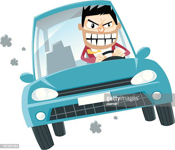 drive - agression stock illustrations, clip art, cartoons, & icons