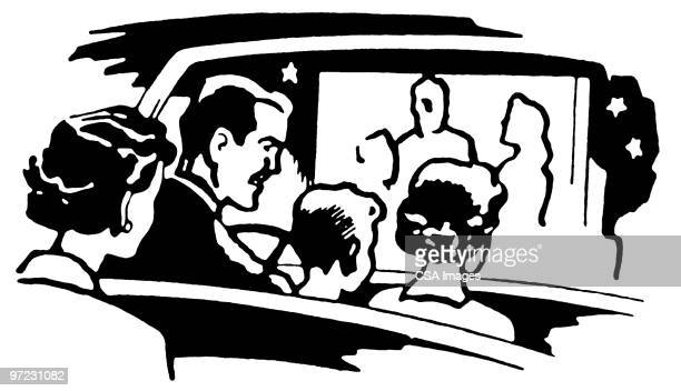 134 Drive In Movie High Res Illustrations Getty Images