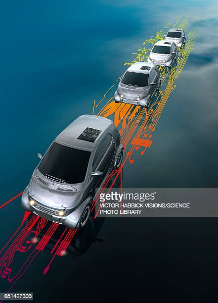 Driverless cars, illustration