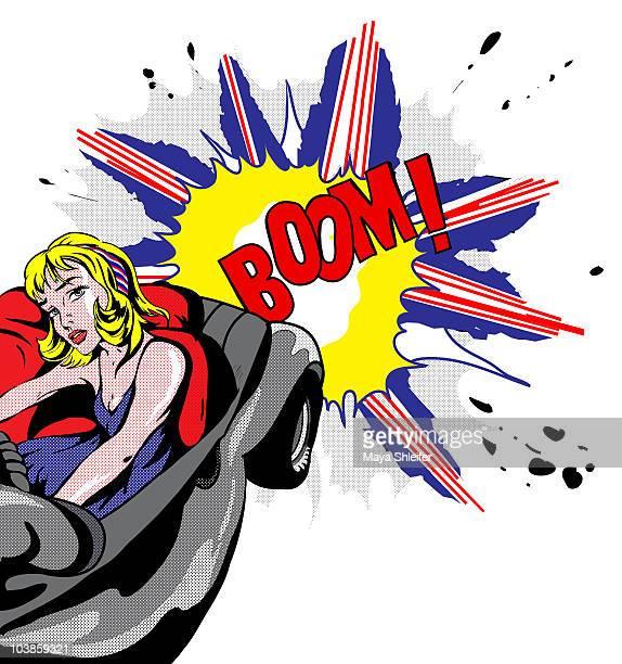 driving boom - capital letter stock illustrations