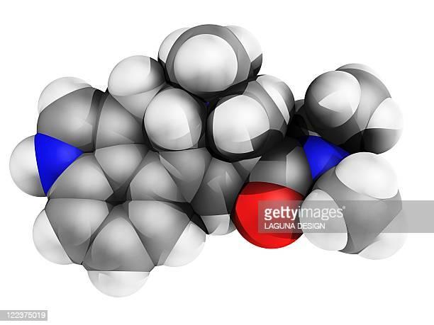 LSD drug molecule