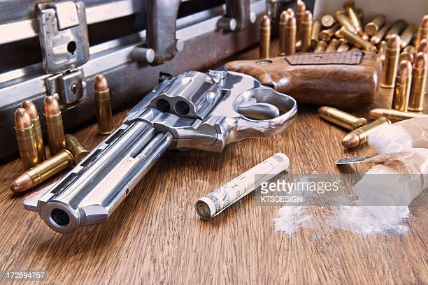 drugs and guns, artwork - cocaine stock illustrations, clip art, cartoons, & icons