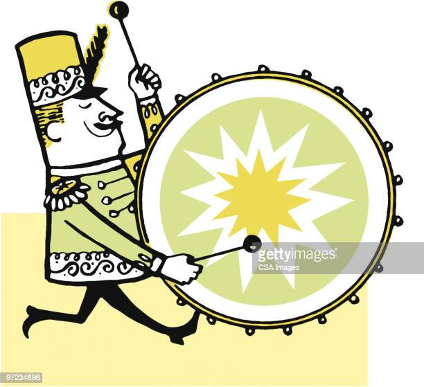 ilustraciones, imágenes clip art, dibujos animados e iconos de stock de drummer - un solo hombre