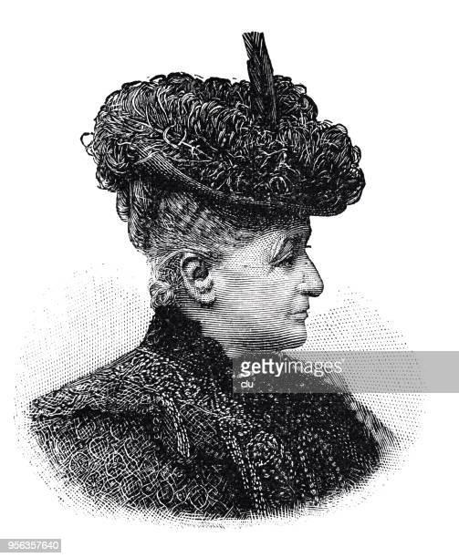 duchess adelheid of schleswig holstein, mother of the german empress - empress stock illustrations, clip art, cartoons, & icons