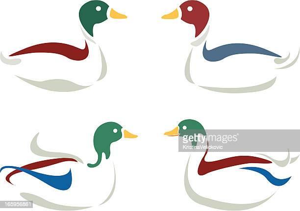 bildbanksillustrationer, clip art samt tecknat material och ikoner med duck design - duck