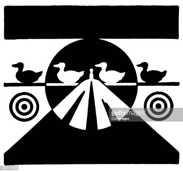 ducks - sports target stock illustrations