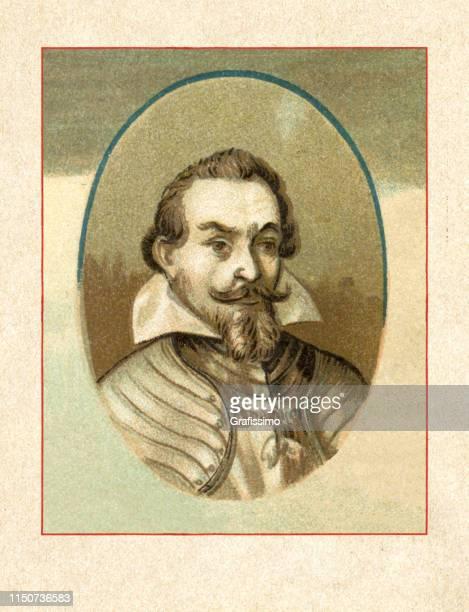 stockillustraties, clipart, cartoons en iconen met hertog van beieren maximilian i portret 1651 - duke