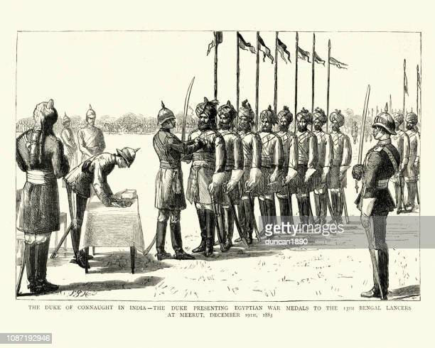 Duke of Connaught presenting medals to the 13th Bengal Lancers