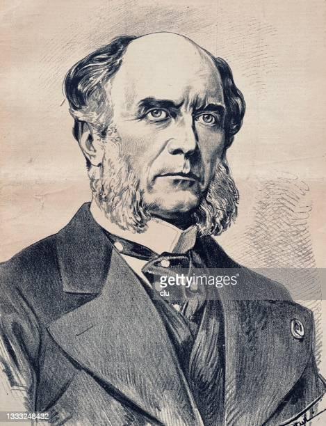 bildbanksillustrationer, clip art samt tecknat material och ikoner med duke of decazes and glücksbjerg, french minister - duke