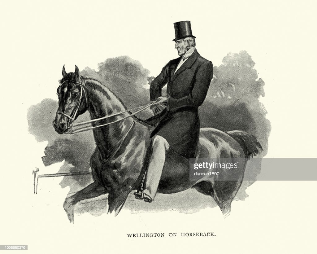 Duke Of Wellington Riding A Horse As Old Man High Res Vector Graphic Getty Images