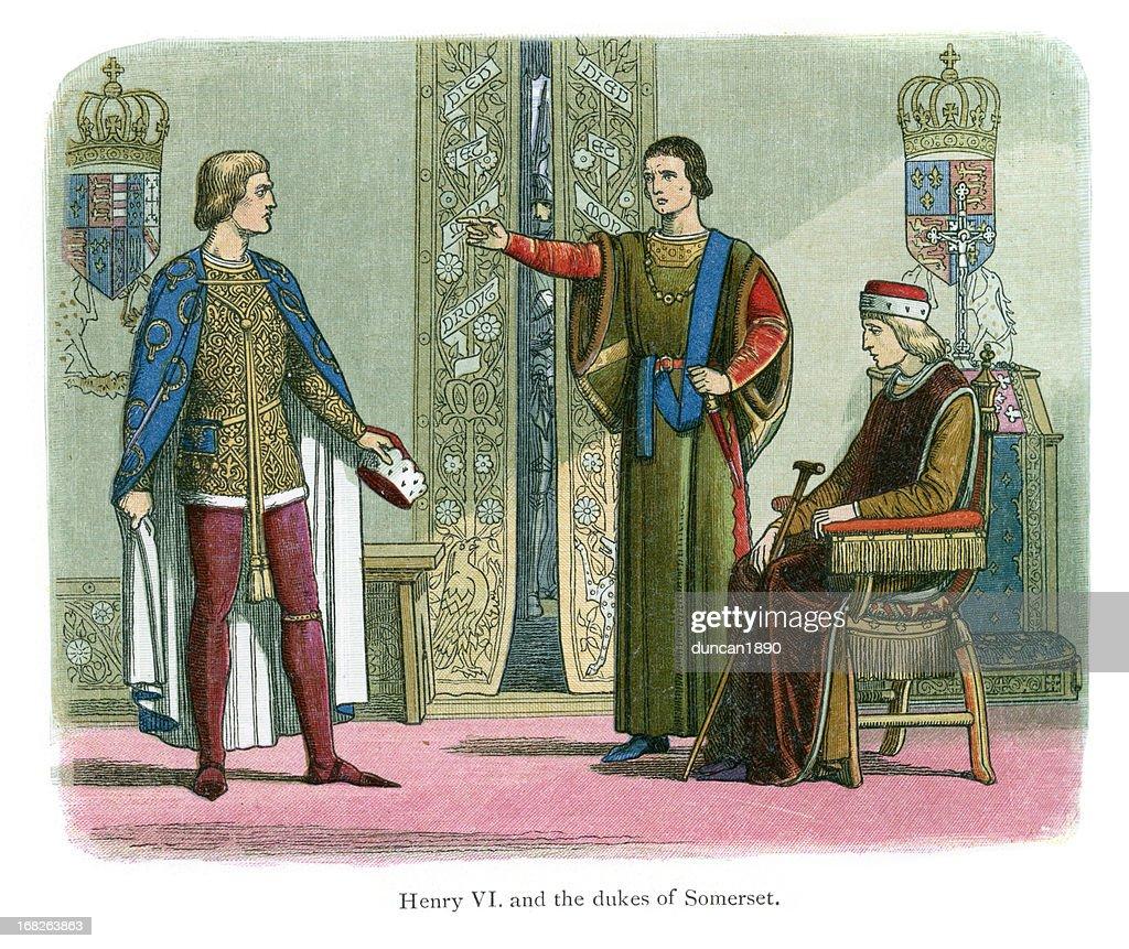 Dukes of York and Somerset : stock illustration