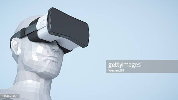 Dummy with Virtual Reality Glasses, 3D Rendering