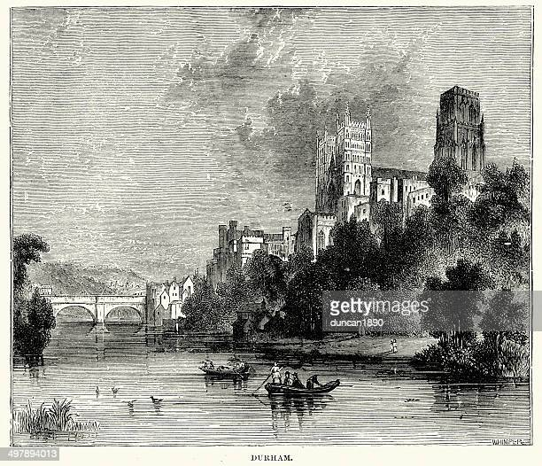 durham in the 19th century - northeastern england stock illustrations, clip art, cartoons, & icons