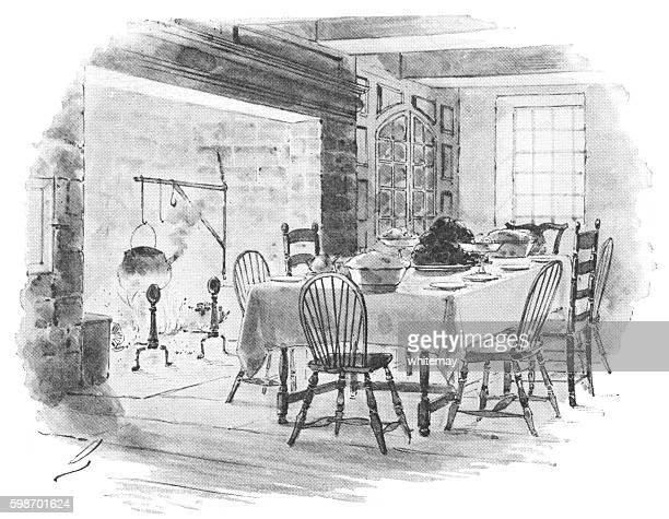 Dutch-American 18th century home interior