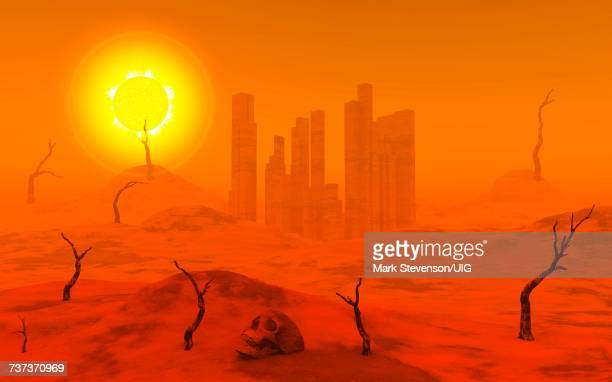 dying world, extinct of all life. - living organism stock illustrations, clip art, cartoons, & icons