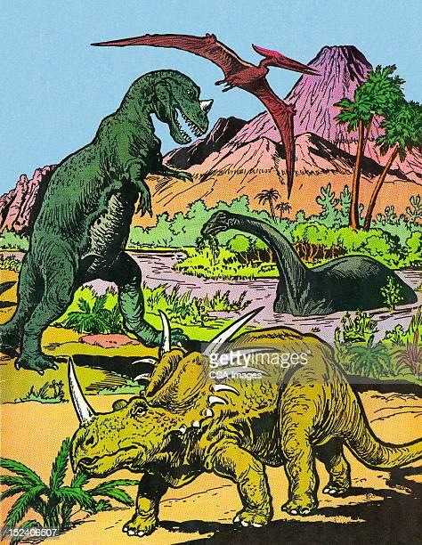 ilustrações de stock, clip art, desenhos animados e ícones de dynosaurs - dinossauro desenho