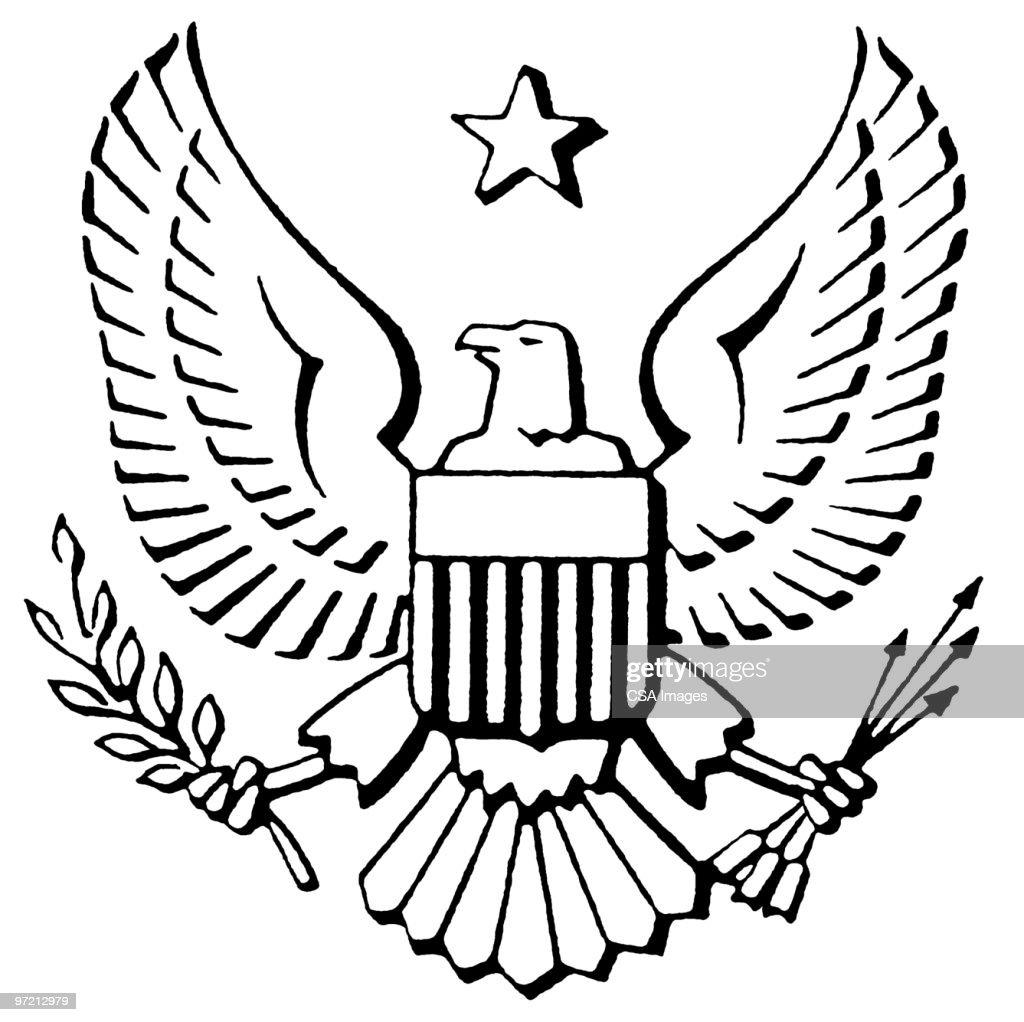 Eagle crest : Stock Illustration