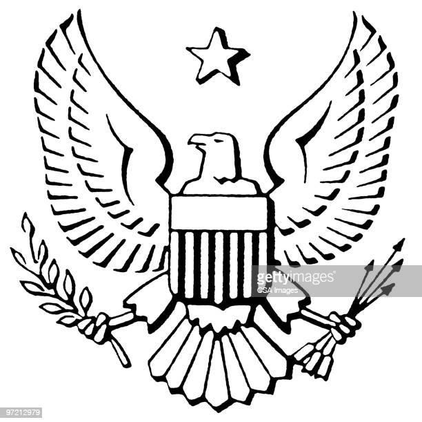 eagle crest - bald eagle stock illustrations