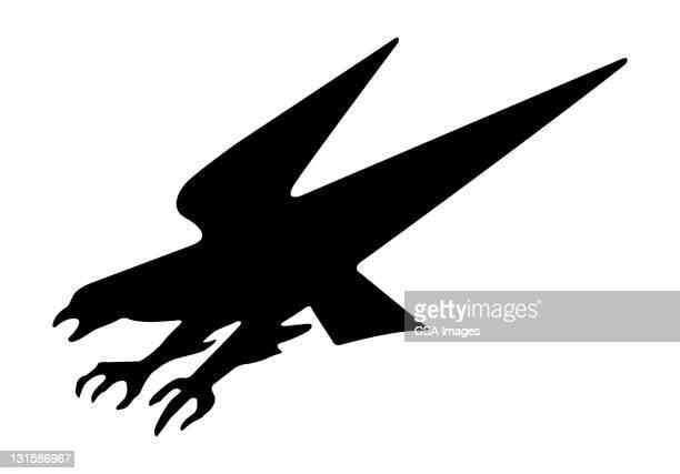 eagle - falcon bird stock illustrations, clip art, cartoons, & icons
