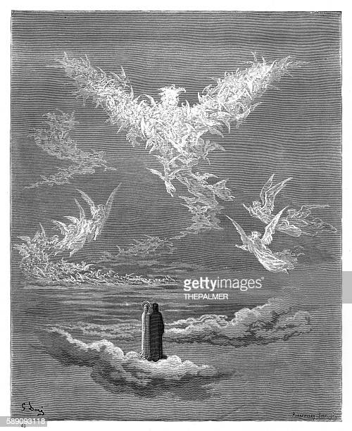 illustrazioni stock, clip art, cartoni animati e icone di tendenza di eagle of justice 1870 - paradiso