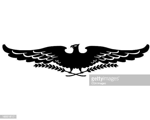 eagle wings - branch stock illustrations