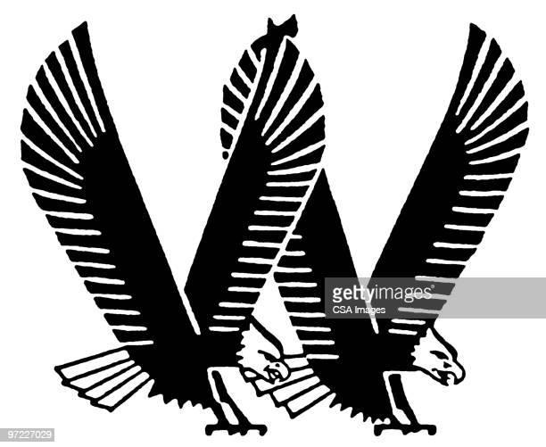 eagles - bald eagle stock illustrations