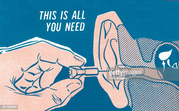 ear: this is all you need - hearing aid stock illustrations, clip art, cartoons, & icons