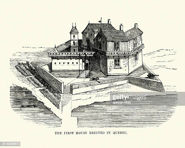 Early fortified house in Quebec, Canada