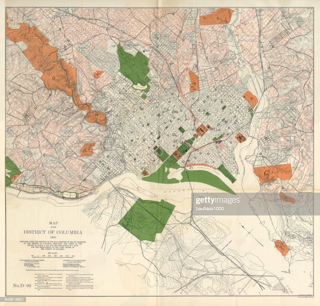 Early Map Of The City And Capitol Of Washington Dc United ...