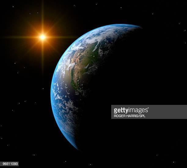 earth, artwork - satellite view stock illustrations