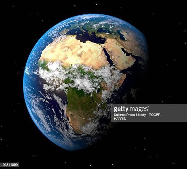 illustrazioni stock, clip art, cartoni animati e icone di tendenza di earth, artwork - africa