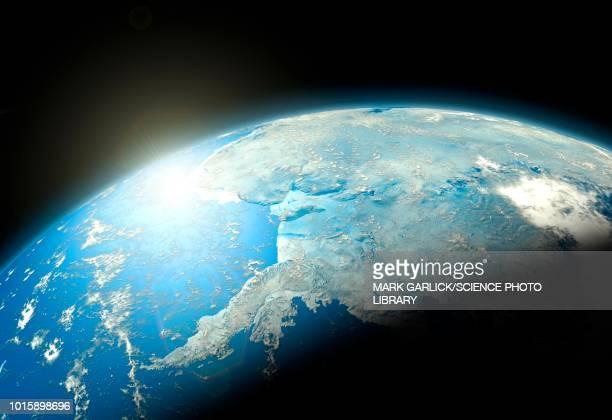 earth from space, illustration - 南極海点のイラスト素材/クリップアート素材/マンガ素材/アイコン素材
