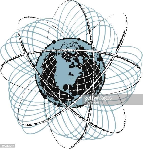 earth - orbiting stock-grafiken, -clipart, -cartoons und -symbole