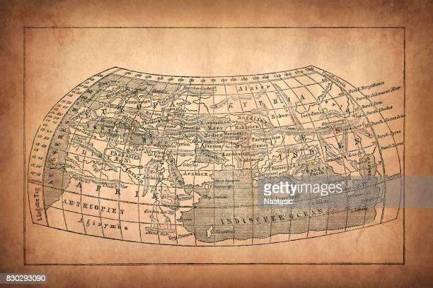 Earth map according to Claudius Ptolemaeus