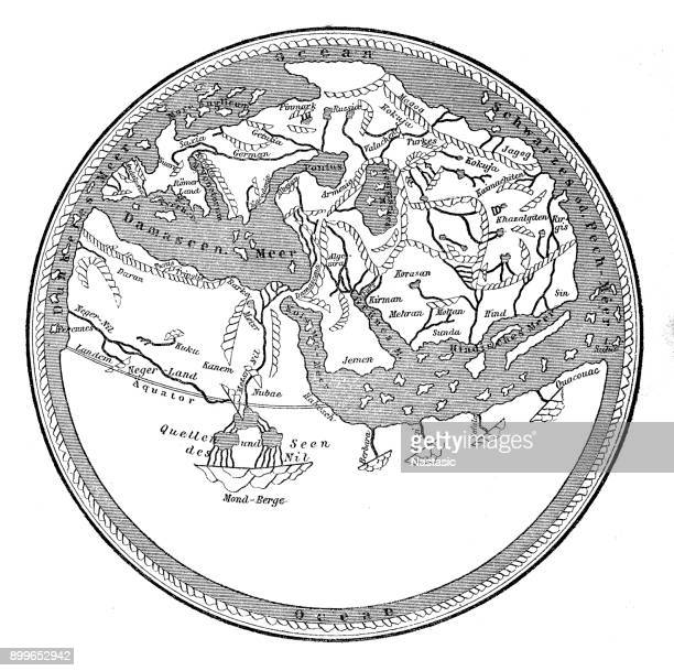 Earth map of Muhammad al-Idrisi from circa 1150, 12th century