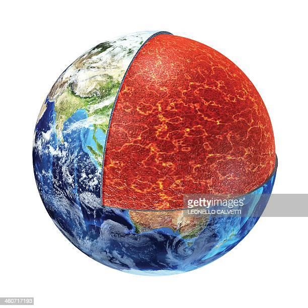ilustraciones, imágenes clip art, dibujos animados e iconos de stock de earth's crust, artwork - cortezaterrestre