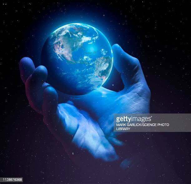 ilustrações de stock, clip art, desenhos animados e ícones de earth's fragility, conceptual illustration - desmatamento