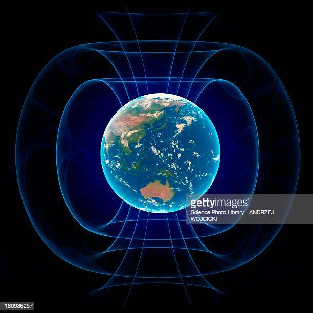 earth's magnetic field, artwork - natural pattern stock illustrations