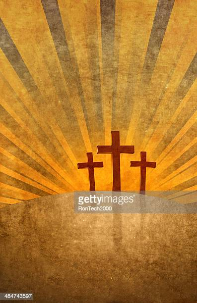 easter crosses - easter religious stock illustrations