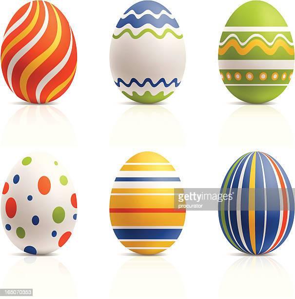easter eggs - easter egg stock illustrations, clip art, cartoons, & icons