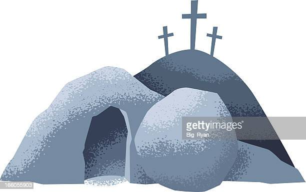 easter grave - jesus stock illustrations, clip art, cartoons, & icons