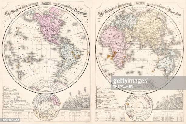 Easter hemisphere map 1867