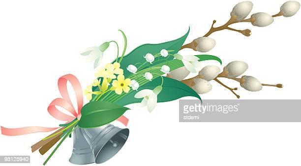 illustrations, cliparts, dessins animés et icônes de de pâques - brin muguet