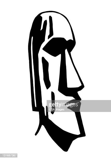 easter island statue - pacific islands stock illustrations