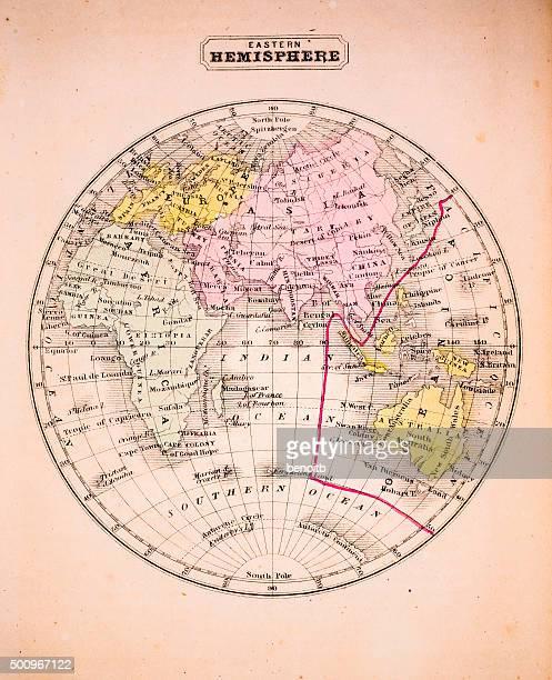 Eastern Hemisphere 1852 Map