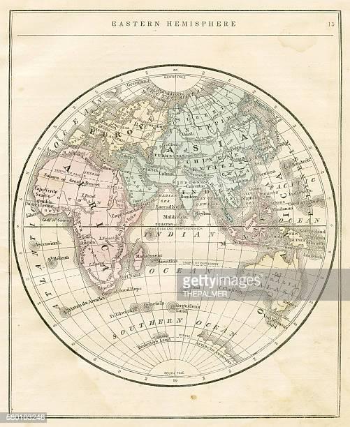 Eastern Hemisphere map 1856